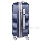 Удобный пластиковый чемодан на колесиках, Dark Blue, фото 3