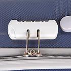 Удобный пластиковый чемодан на колесиках, Dark Blue, фото 8