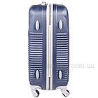 Удобный пластиковый чемодан на колесиках, Dark Blue, фото 7
