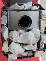 Печь-каменка в сауну «Пруток» с выносной топкой и дверкой со стеклом, фото 3