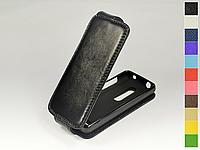Откидной чехол из натуральной кожи для Nokia Asha 206