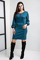 Замшевое коктейльное платье  44-56 р-ры, фото 1