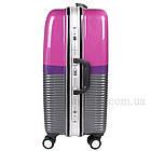 Розовый чемодан пластиковый, средний  Purple, фото 7