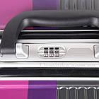 Розовый чемодан пластиковый, средний  Purple, фото 10