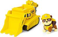 Игровой набор Щенячий патруль Крепыш с бульдозером и буром Paw Patrol - Rubble's Bulldozer Vehicle