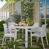 Стол садовый уличный Keter Melody Quartet White ( белый ) из искусственного ротанга, фото 10
