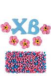 """Набір пасхальний """"ХВ з квітами та посипкою"""", фото 2"""