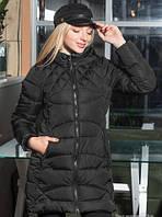 Удлиненная зимняя куртка из плащевки, выстеганной на синтепоне 44-50 р.р.