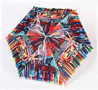 Зонт ZEST женский механика 5 сложений, цветной плоский. Расцветка Кейтлан