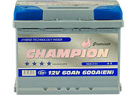 6CT-60Ач. 600A. CHAMPION Premium