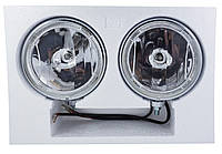 Фирменные фары дальнего света SIRIUS NS-907. Ободок диодный, корпус металл+стекло