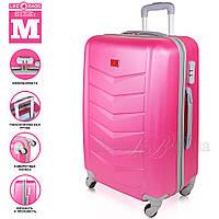 Модный пластиковый чемодан на колесиках , фото 1