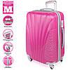 Фиолетовый пластиковый чемодан на колесиках Wanger Purple