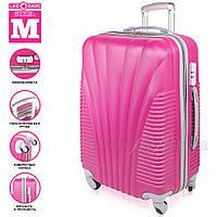 Фиолетовый пластиковый чемодан на колесиках Wanger Purple, фото 1
