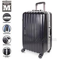 Современный пластиковый чемодан на колесиках  Black, фото 1