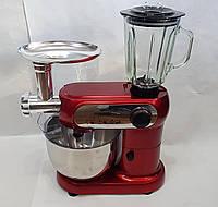 Кухонный комбайн с чашей CB 3404 Crownberg, Комбайн на кухню с тестомесом, мясорубкой