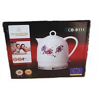 Электрочайник керамический CB 9111 Crownberg Ceramic, Чайник  электрический бытовой