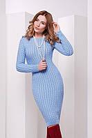 S-M / В'язане жіноче плаття SIren, блакитний