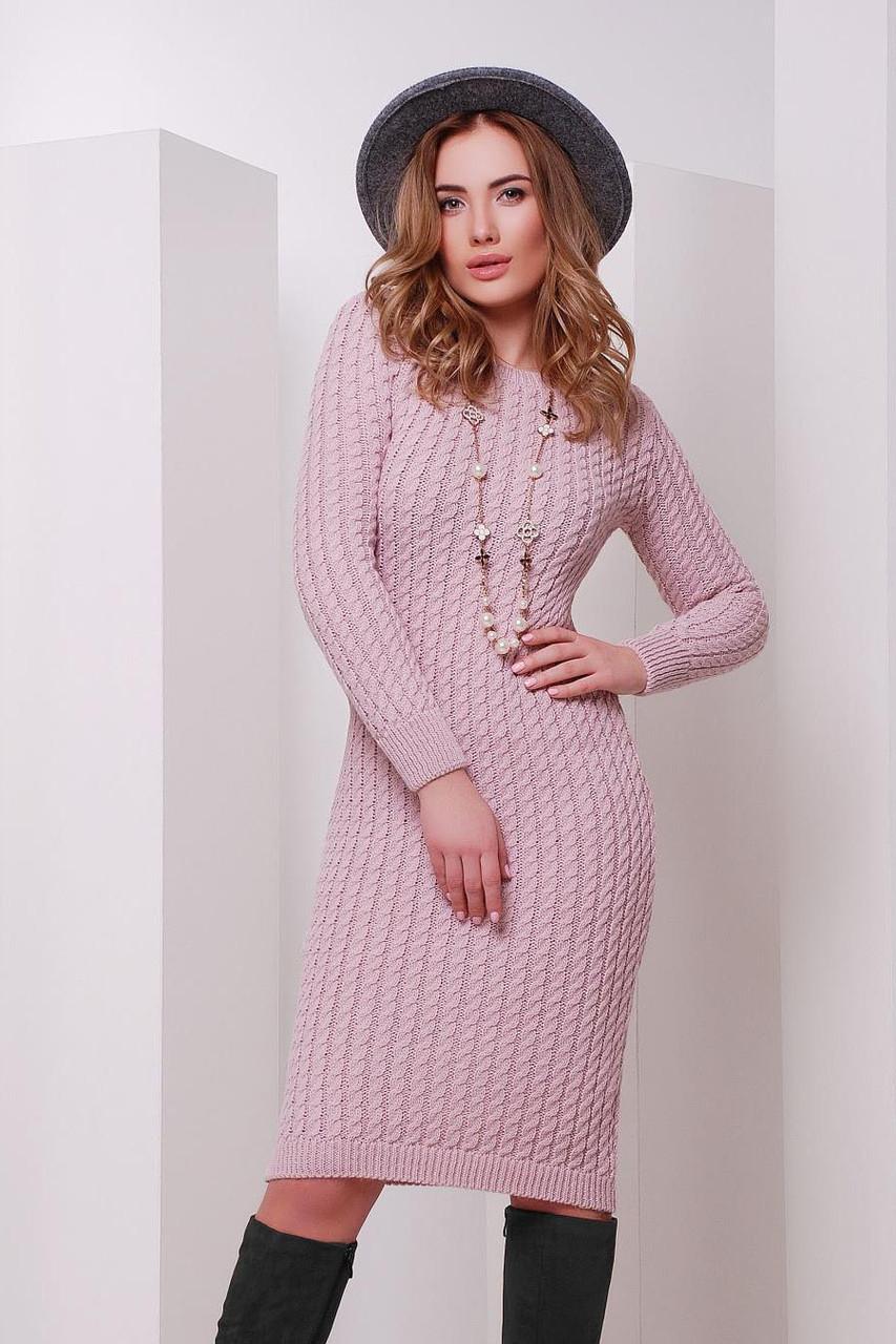 S-M / В'язане жіноче плаття SIren, рожевий