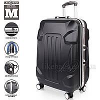 Строгий пластиковый чемодан на колесах , фото 1