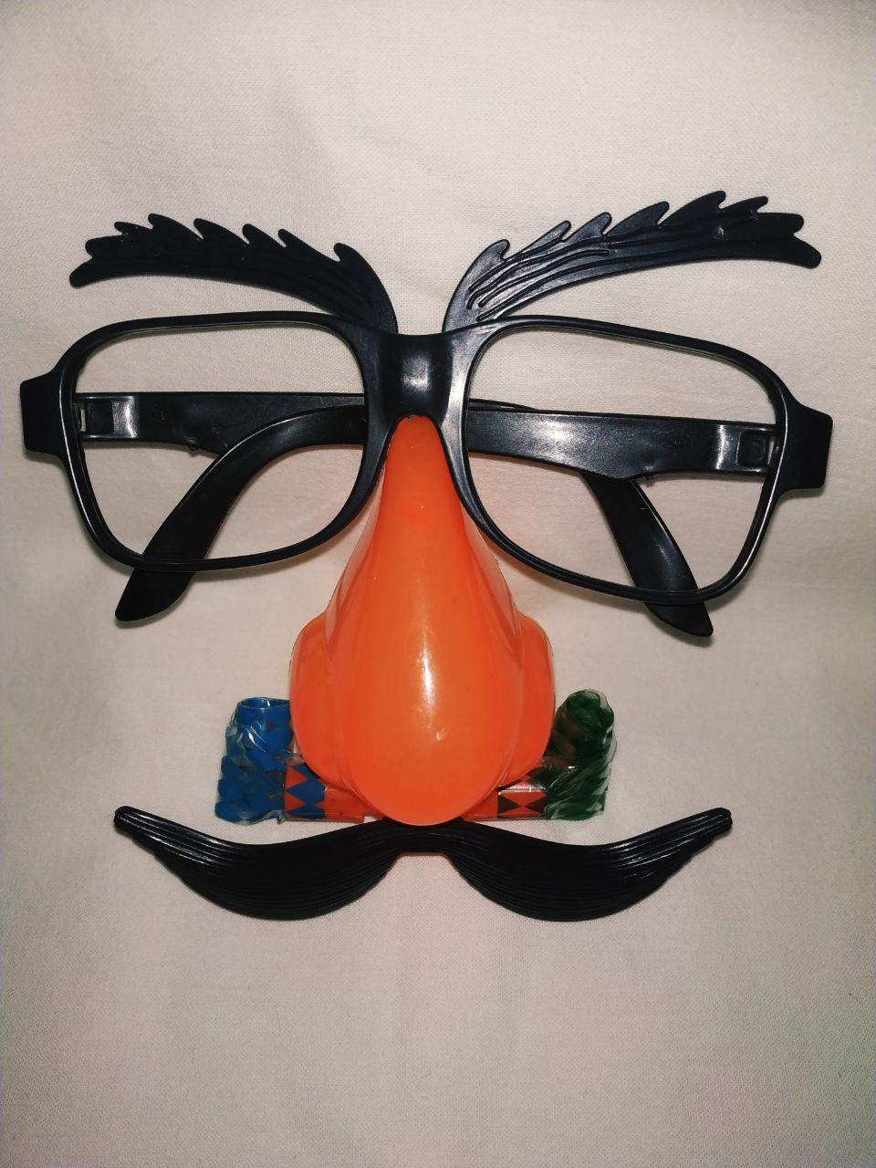 Очки карнавальные с носом, усами и гудками