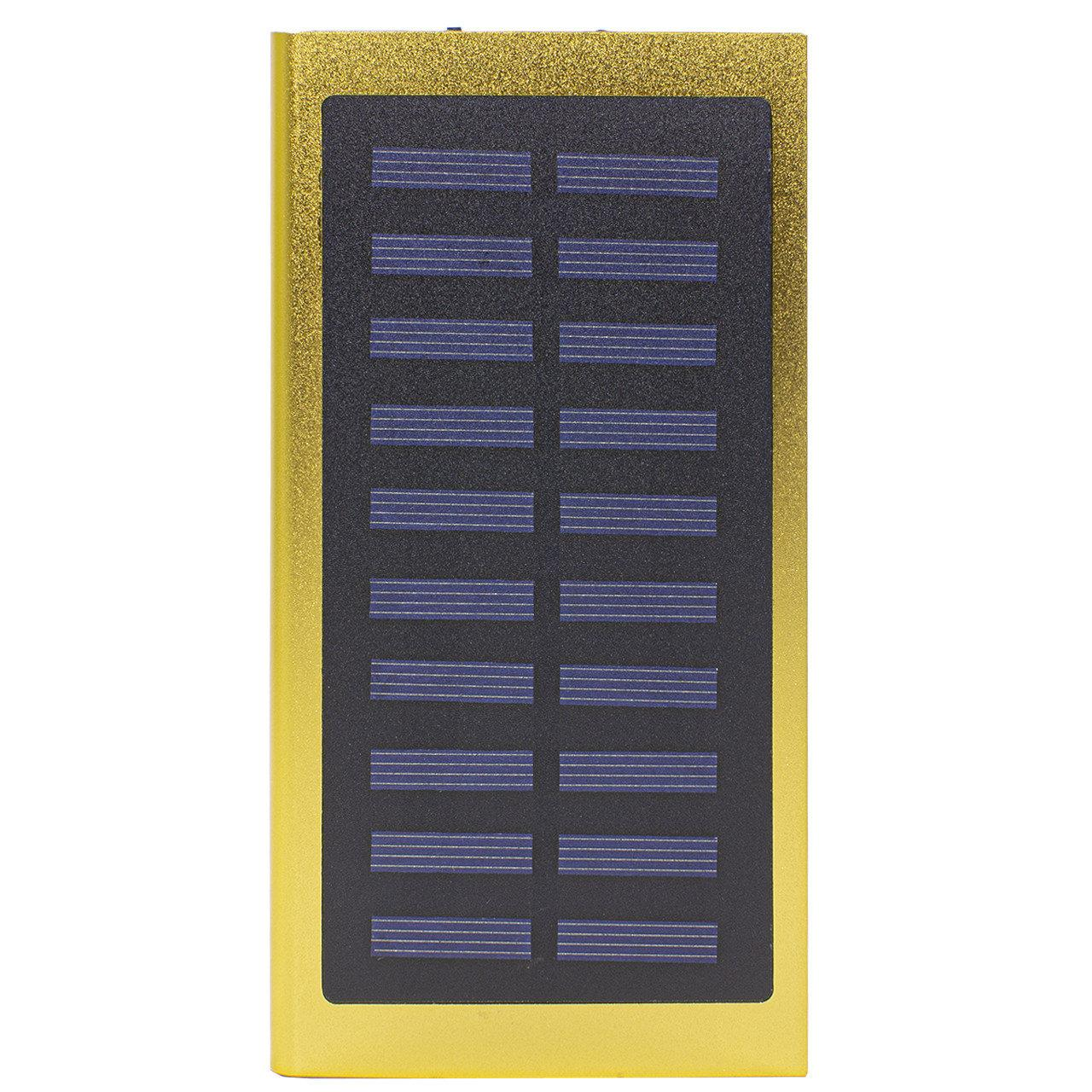 ➜Внешний аккумулятор Solar Water Cube Gold 20000 mAh зарядное для телефонов планшетов солнечная батарея 2хUSB