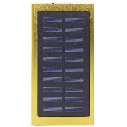 ➜Внешний аккумулятор Solar Water Cube Gold 20000 mAh зарядное для телефонов планшетов солнечная батарея 2хUSB, фото 2