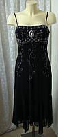 Платье вечернее декор вышивка миди бренд Debenhams р.42