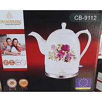 Чайник электрический CB 9112 Crownberg Ceramic, Чайник бытовой, Электрочайник керамический