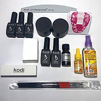Стартовый набор Kodi professional  для наращивания ногтей и гель лака без лампы