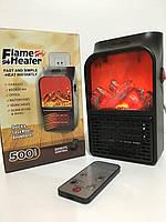 Портативный обогреватель c LCD дисплеем Flame Heater Plus 500W тепловентилятор комнатный с имитацией камина Bl, фото 1