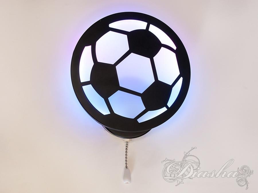 """Світлодіодне бра """"футбольний м'яч"""" в дитячу 8065/1BK RGB"""