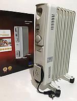 Heater CB 7 S Crownberg 1500W, Масляный обогреватель камин, Обогреватель на 7 секций,Масляный радиатор батарея