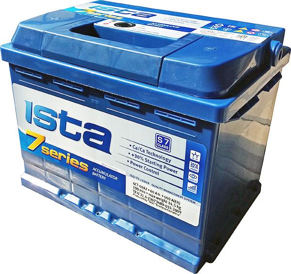 Аккумулятор автомобильный 6СТ-60Ач. 600A. ISTA 7SERIES