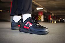 Мужские кроссовки Nike Air Force 1 Low Supreme Black ( Реплика ), фото 2