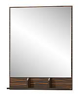 Зеркало Вероника МЕБЕЛЬ-СЕРВИС Макасар + Венге темный (78х100х11.8 см)