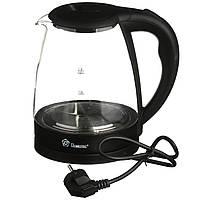 Электрочайник DOMOTEC MS-8210 чайник с RGB подсветкой Черный стеклянный чайник (2,2 л / 2200 Вт)