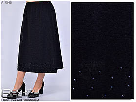 Теплая женская юбка, батал уни 56-56-58-60