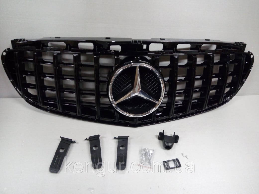 Решетка радиатора Mercedes E-class W212 2014+ Panamericana GT BLACK