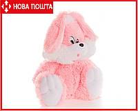 Большой плюшевый Заяц 110 см розовый