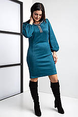 Замшевое коктейльное платье  44-56 р-ры, фото 2