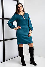 Замшевое коктейльное платье  44-56 р-ры, фото 3