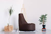 Коричневое бескаркасное кресло-мешок Кайф из Оксфорда