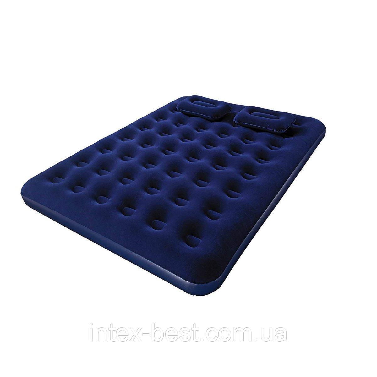 Двуспальный надувной матрас с подушками и насосом Bestway 67374 (203х152х22 см.)