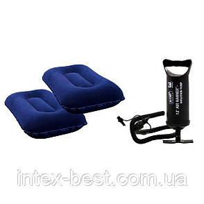 Двуспальный надувной матрас с подушками и насосом Bestway 67374 (203х152х22 см.), фото 2