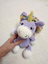 Вязаная игрушка плюшевая пони единорог единорожка