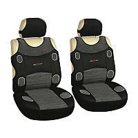 Майки чехлы универсальные для салона Milex Prestige P на переднее сиденье серые