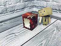 *10 шт* / Коробка / Бонбоньерка / 60х60х75 мм / печать-Снег.Красн / окно-обычн / НГ, фото 1
