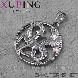 Знак Зодиака Козерог Xuping медицинское золото Silver - 1021978133