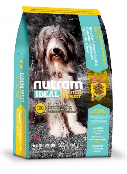 Сухой корм Nutram Ideal для собак с проблемами кожи,шерсти и пищеварения на основе ягненка 2,72КГ